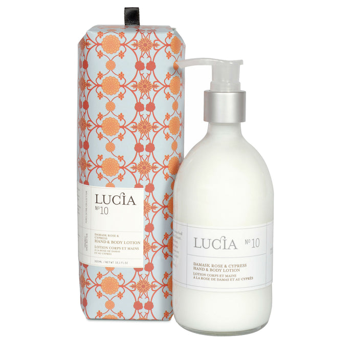 Damask Rose & Cypress, Hand & Body Lotion, LUCIA-VONMEL Luxe Gifts