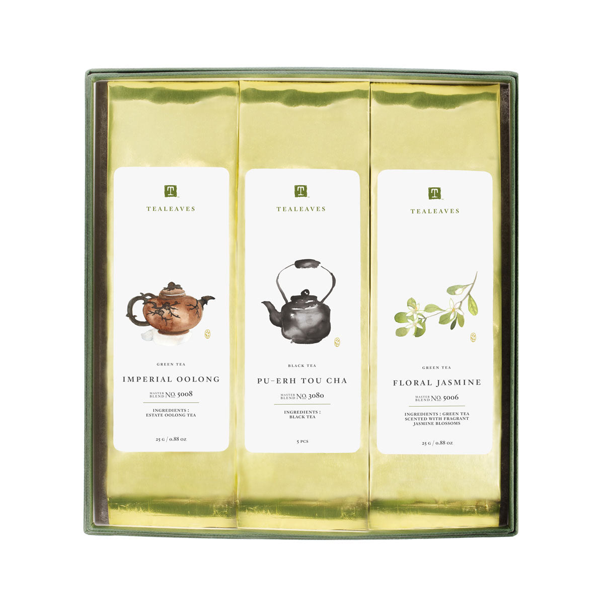 Fortune Collection, Assorted Tea Box, TEALEAVES-VONMEL Luxe Gifts