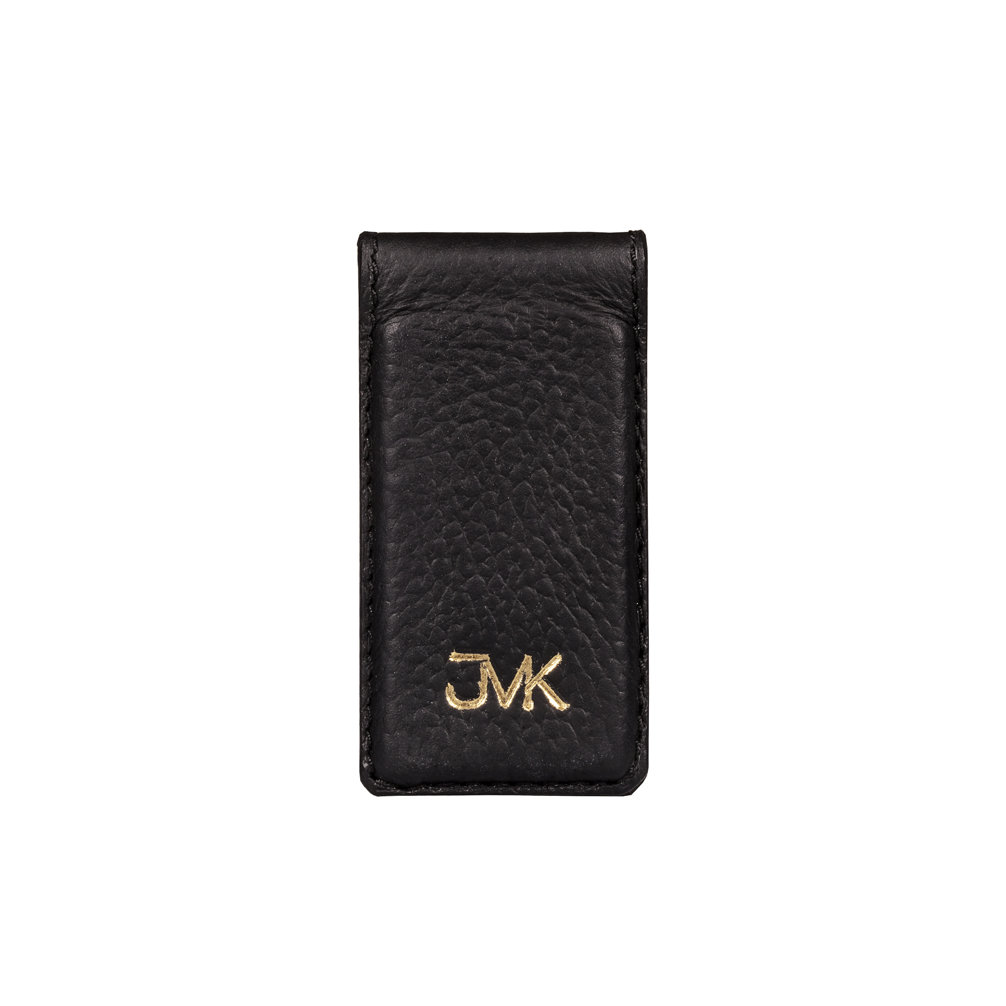 Money Clip, Grain Leather Black/Black, MAISON JMK-VONMEL Luxe Gifts