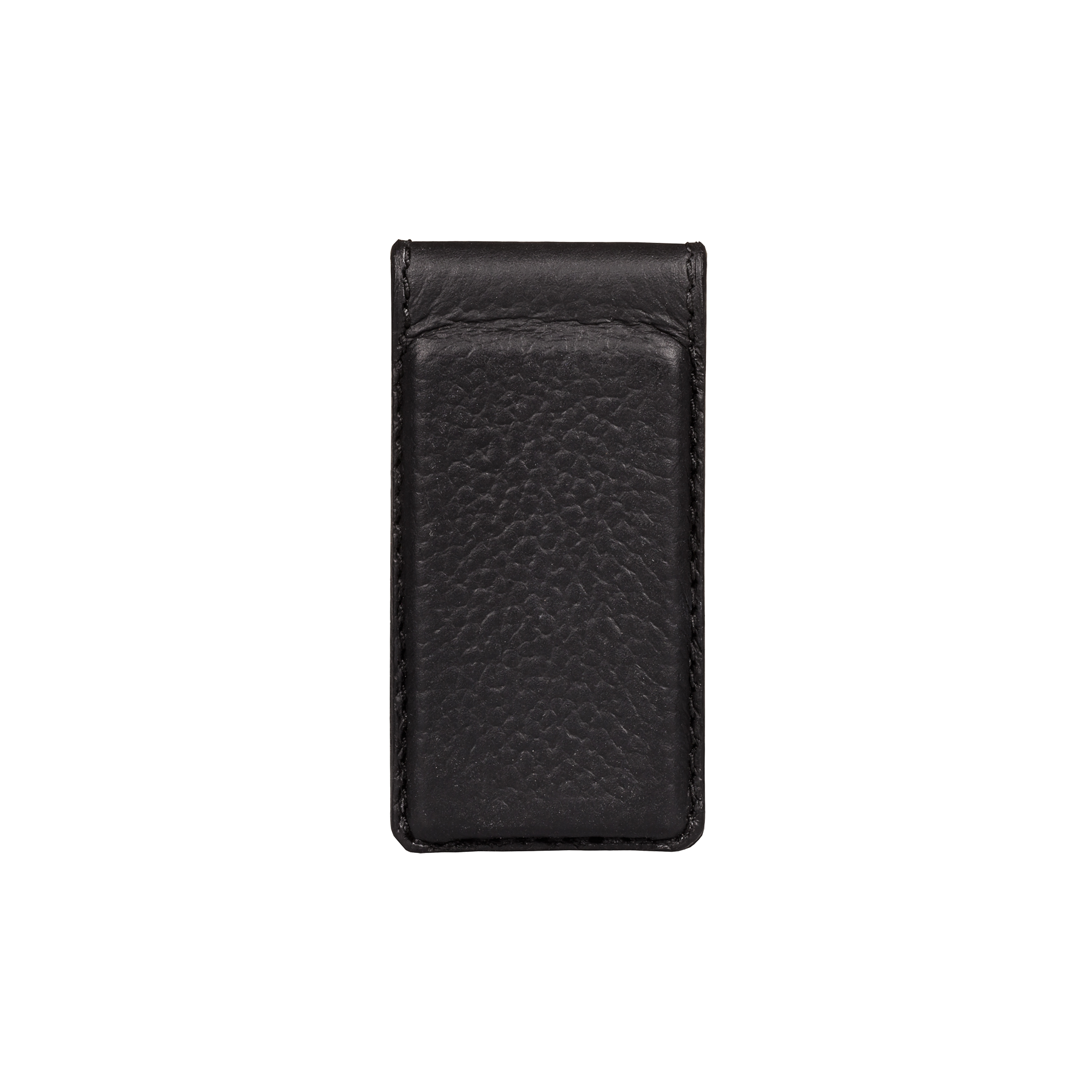 Money Clip, Grain Leather Black/Red, MAISON JMK-VONMEL Luxe Gifts