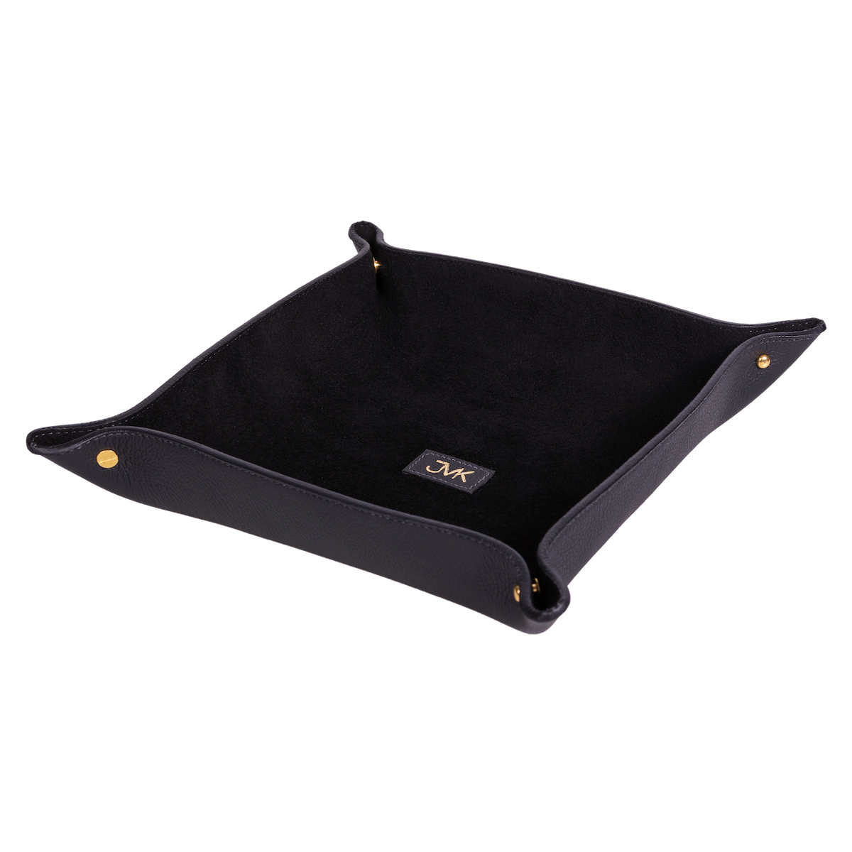 Change Tray, Grain Leather Black/Black, MAISON JMK-VONMEL Luxe Gifts