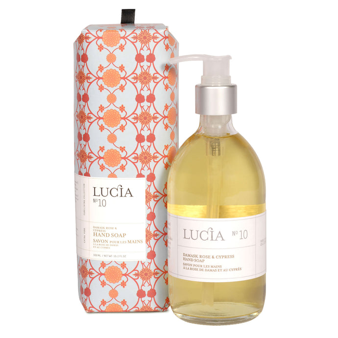 Damask Rose & Cypress, Hand Soap, LUCIA-VONMEL Luxe Gifts