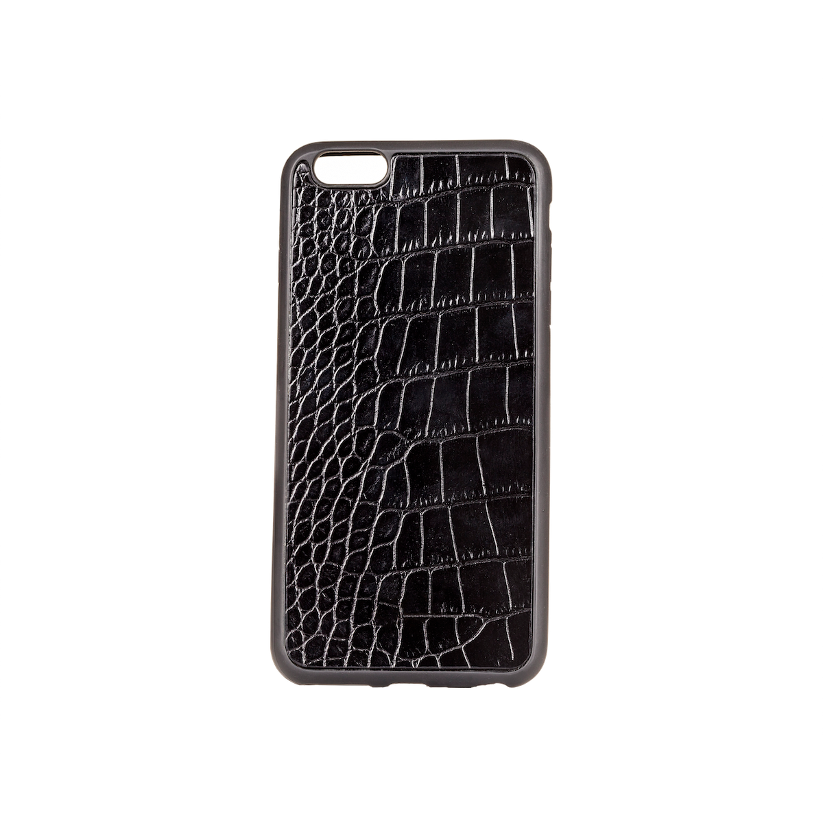 Iphone 6 Plus Case, Black Croco Leather, MAISON JMK-VONMEL Luxe Gifts