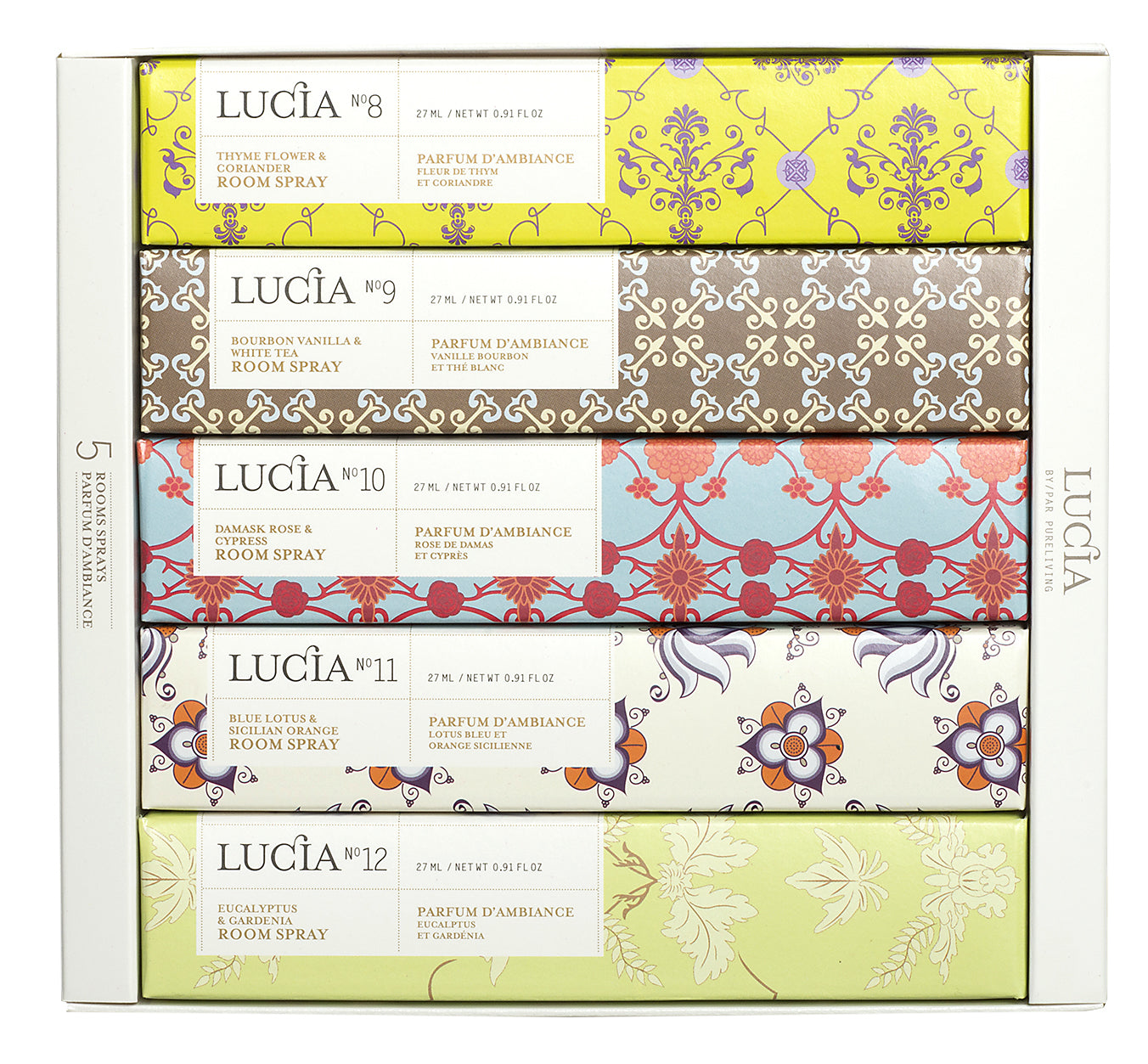 Variety Room Spray, Gift Set, LUCIA-VONMEL Luxe Gifts