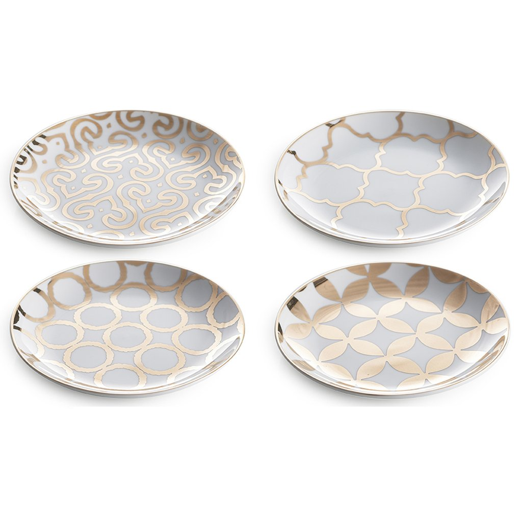 Luxe Moderne, Appetizer Plate S/4, ROSANNA-VONMEL Luxe Gifts