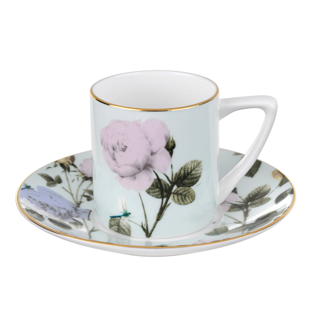 Rosie Lee - Mint, Espresso Cup & Saucer, TED BAKER-VONMEL Luxe Gifts