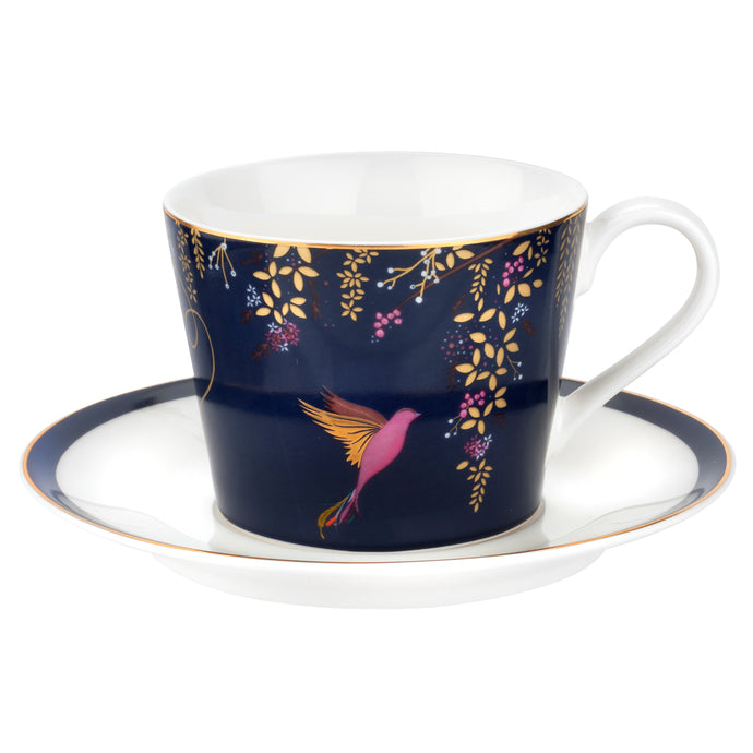 Chelsea Navy Hummingbird, Teacup & Saucer, SARA MILLER LONDON-VONMEL Luxe Gifts