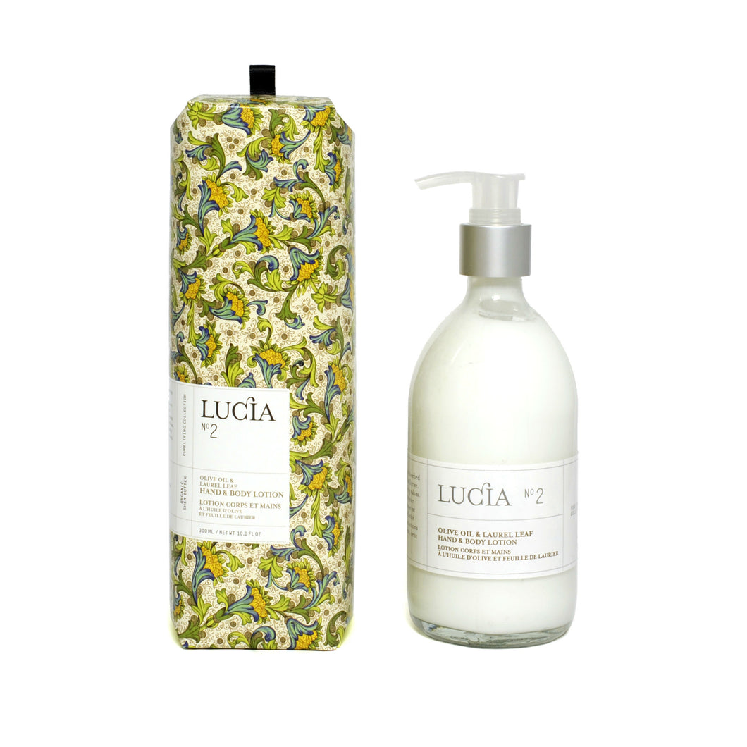 Olive Oil & Laurel Leaf, Hand & Body Lotion, LUCIA-VONMEL Luxe Gifts