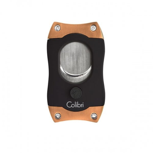 S-Cut Cigar Cutter, Black/Brush Rose, COLIBRI-VONMEL Luxe Gifts