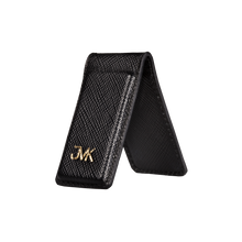 Money Clip, Saffiano Leather Black/Black, MAISON JMK-VONMEL Luxe Gifts