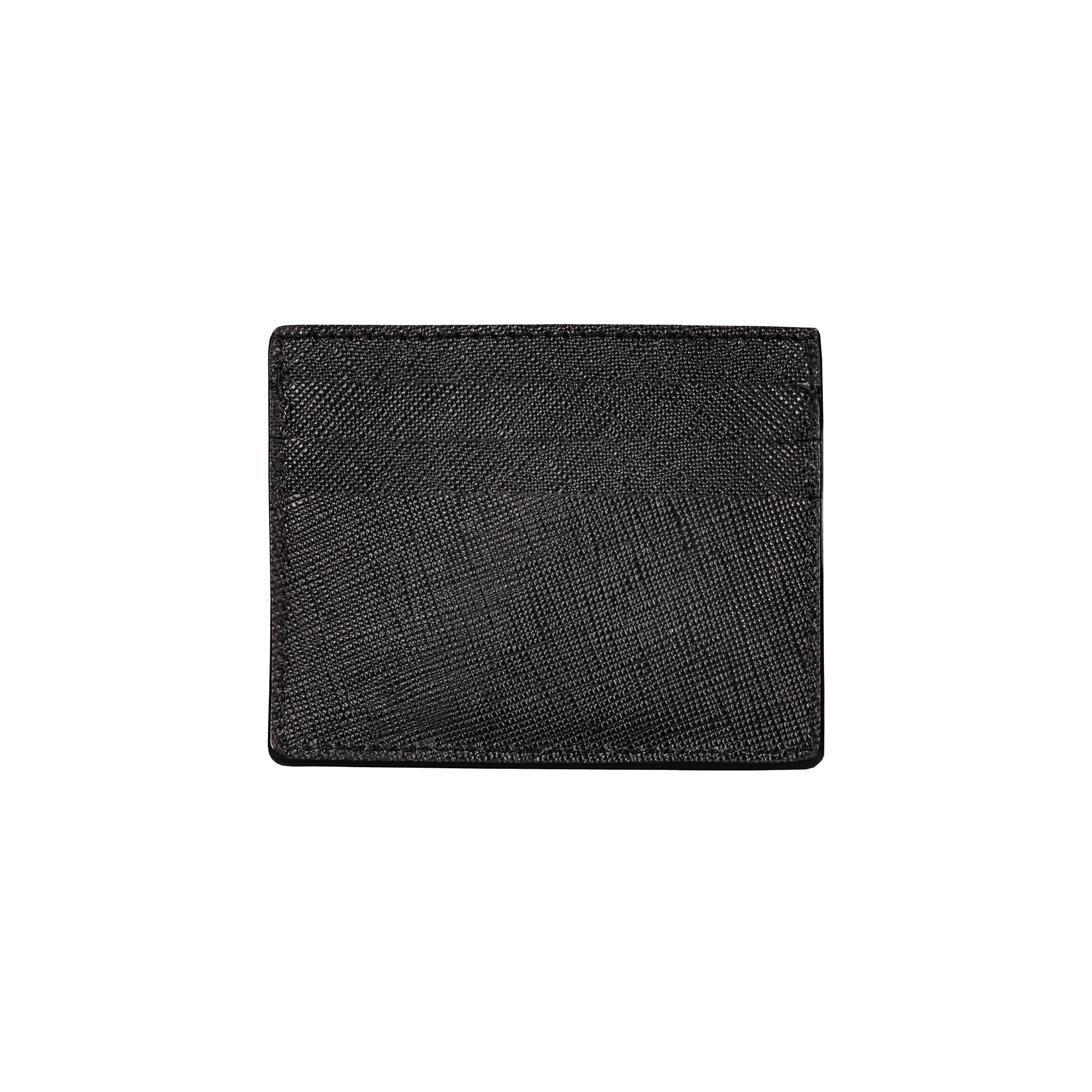 Card Holder - 6 Slots, Saffiano Leather Black/Black, MAISON JMK-VONMEL Luxe Gifts