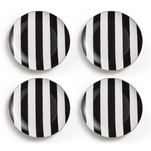 Soiree Noire, Appetizer Plate S/4, ROSANNA-VONMEL Luxe Gifts