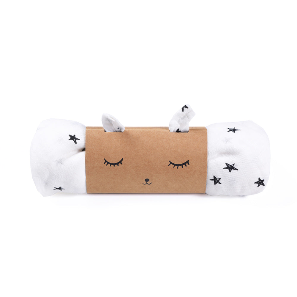 Stars, Organic Muslin Swaddle, WEE GALLERY-VONMEL Luxe Gifts