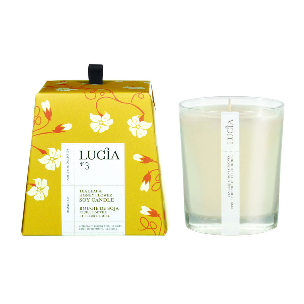 Tea Leaf & Honey Flower, Scented Candle, LUCIA-VONMEL Luxe Gifts