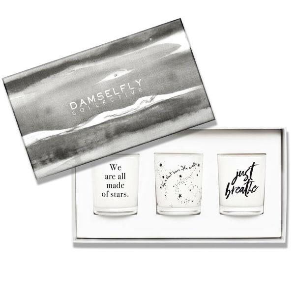 Just Breathe - Gift Set, Scented Candles, DAMSELFLY-VONMEL Luxe Gifts