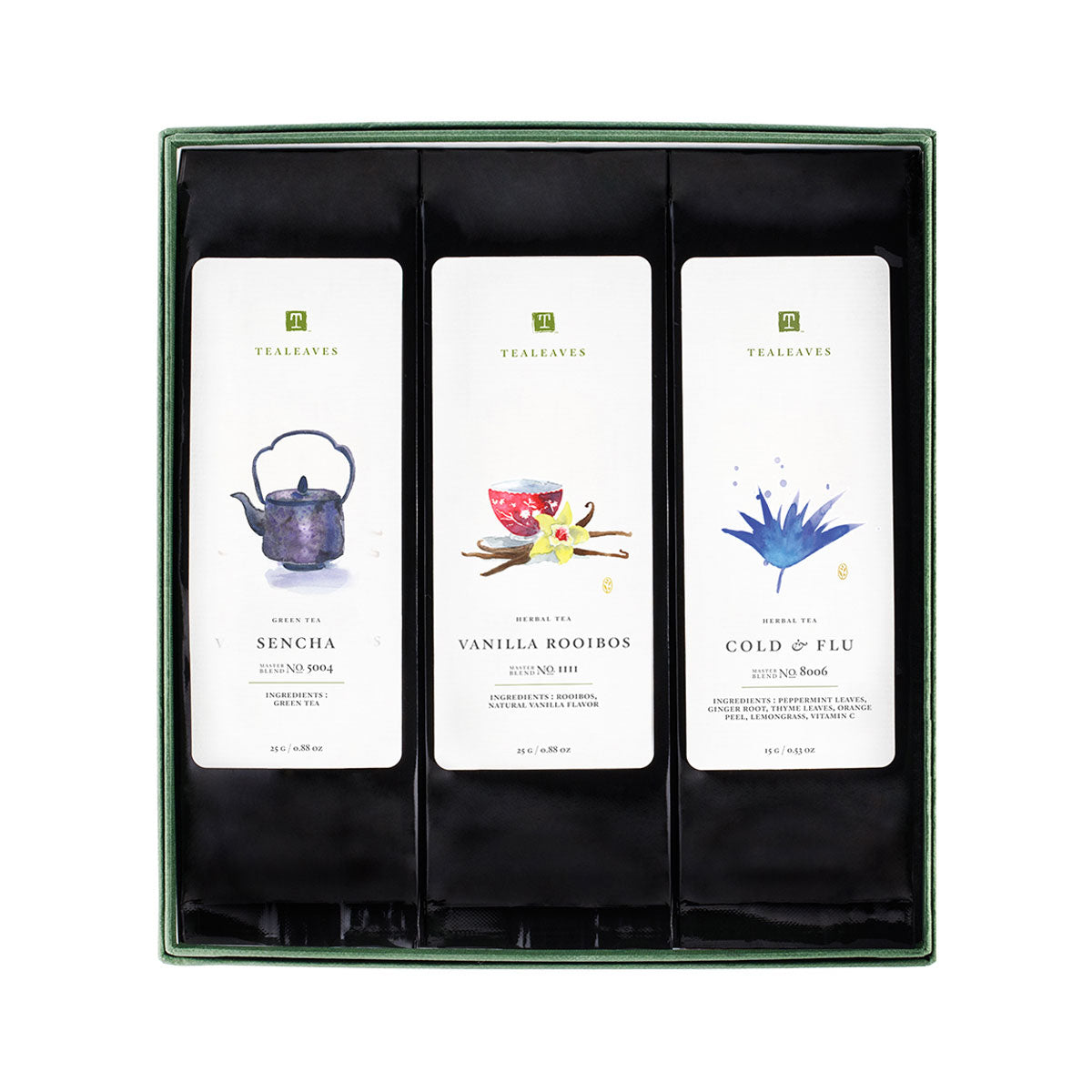 Winter Wellness Collection, Assorted Tea Box, TEALEAVES-VONMEL Luxe Gifts