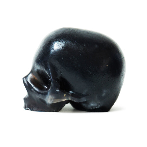 Activated Charcoal Skulls, 3 Black Glycerin Soaps, REBELS REFINERY-VONMEL Luxe Gifts