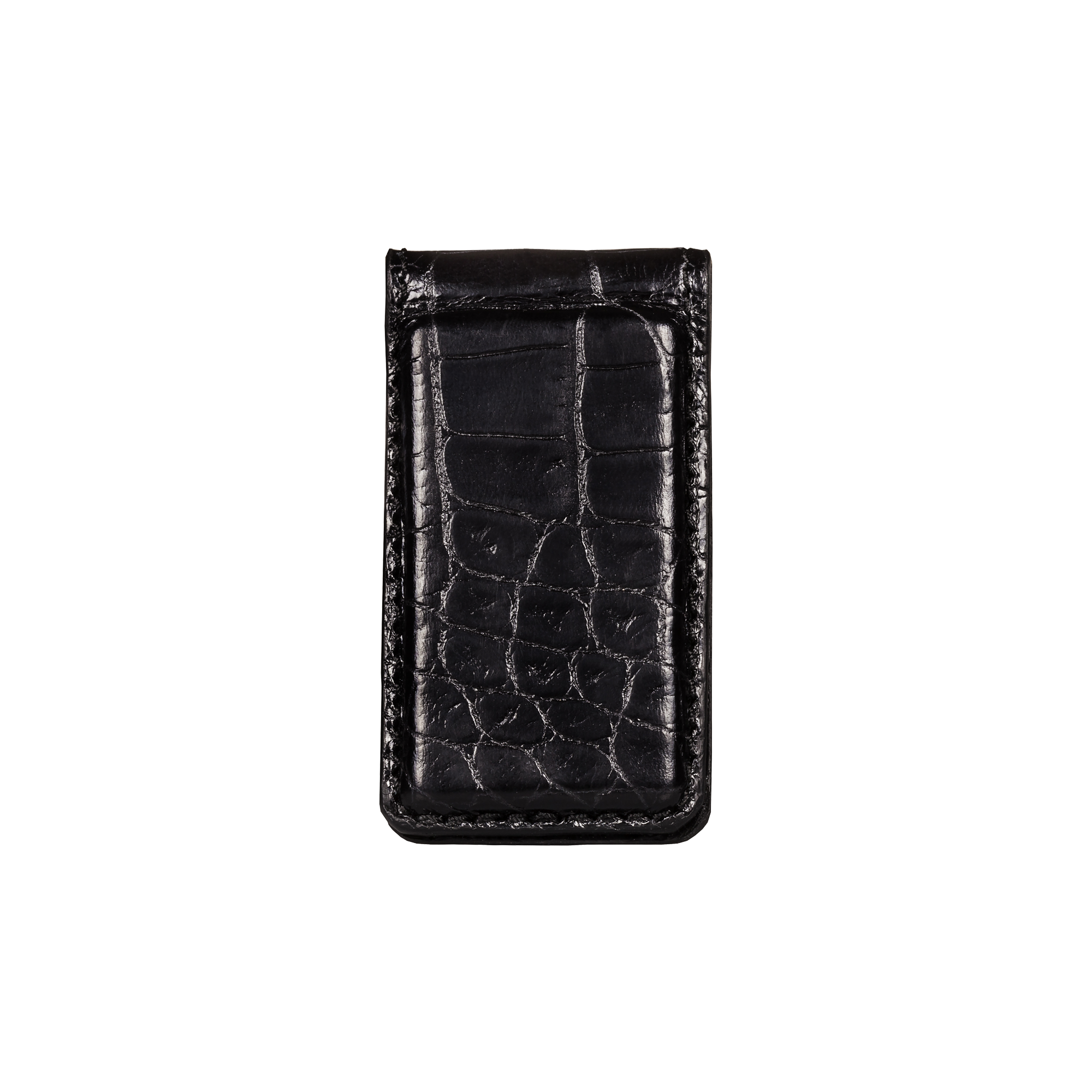 Money Clip, Croco Leather Black/Black, MAISON JMK-VONMEL Luxe Gifts