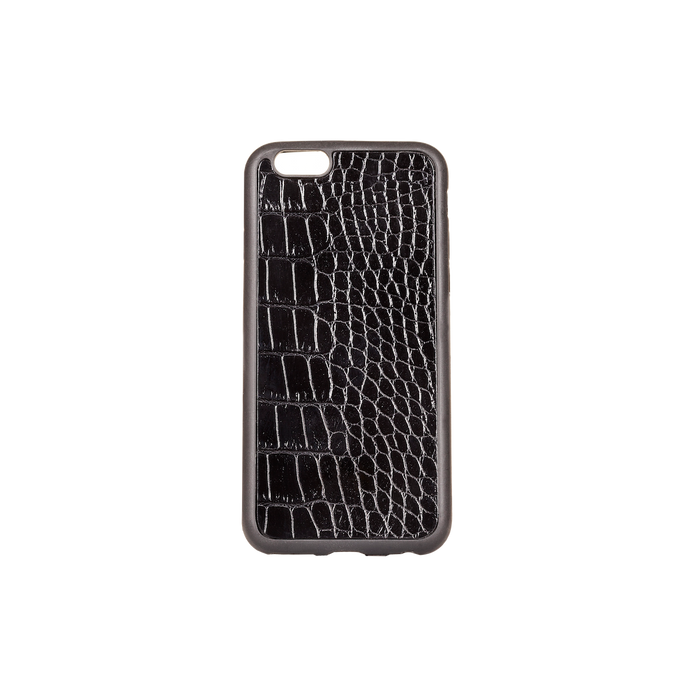 Iphone 6 Case, Black Croco Leather, MAISON JMK-VONMEL Luxe Gifts