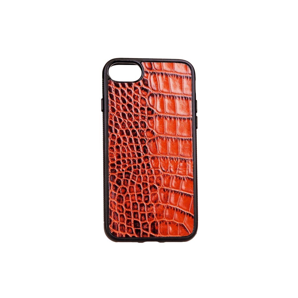 Iphone 7/8 Case, Tan Croco Leather, MAISON JMK-VONMEL Luxe Gifts