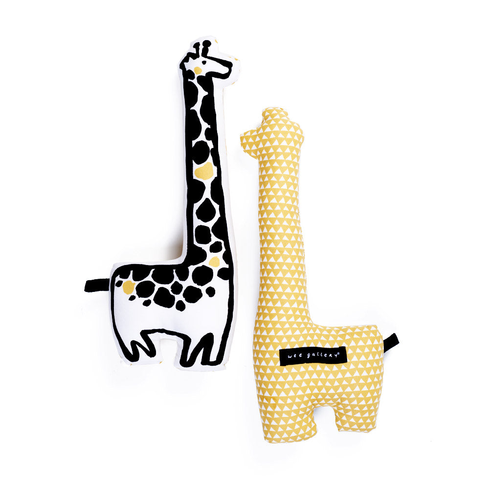 Giraffe, Throw Pillow, WEE GALLERY-VONMEL Luxe Gifts