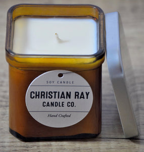 Amber Square Soy Candle