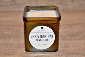Vintage Green Square Soy Candle