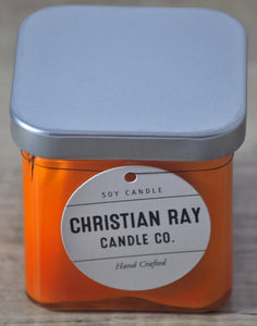 Orange Square Soy Candle