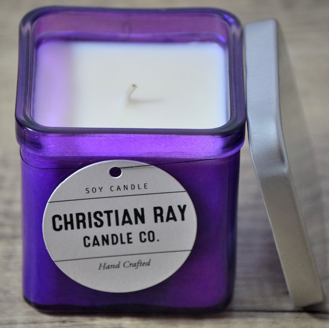 Violet Square Soy Candle