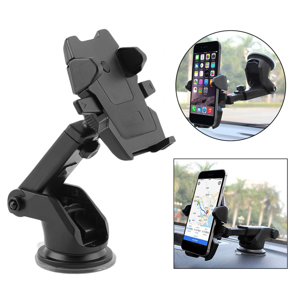 edc4c4261343d ... 2018 Automatic Windshield Mount Car Phone Holder Adjustable 360 degrees  rotation.Adjustable holding width from ...