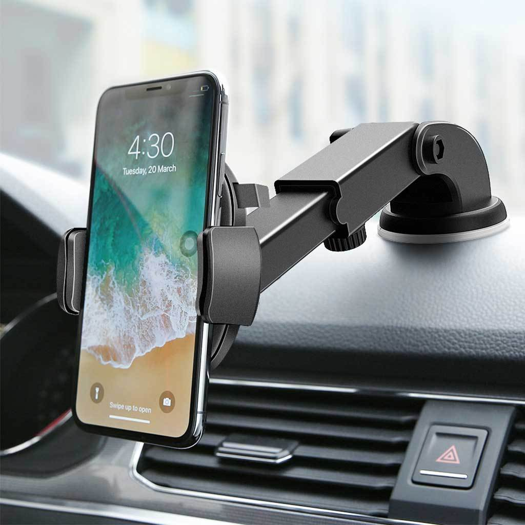 2018 PRO AUTO LOCKING ADJUSTABLE PHONE HOLDER  Adjustable 360 degrees rotation. Adjustable holding width from 5-8.5cm. Keep your cell phone in holder steadily.