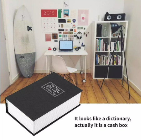 Dictionary Secret Book Safe Money Box