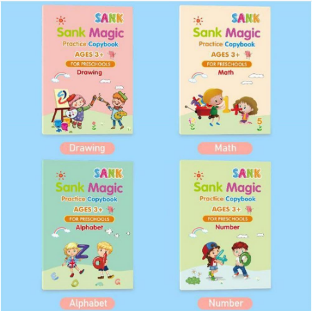 4pcs Magic Learning Books + free 1 magic pen + 4 refills and Free 2 Story Book Promo