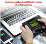 Gaming Power Bank Built-in 416 Classic Games (8000MAH, 2 USB PORTS) - BLACK