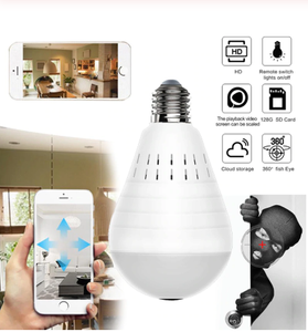 Wireless Security Panoramic CCTV Bulb