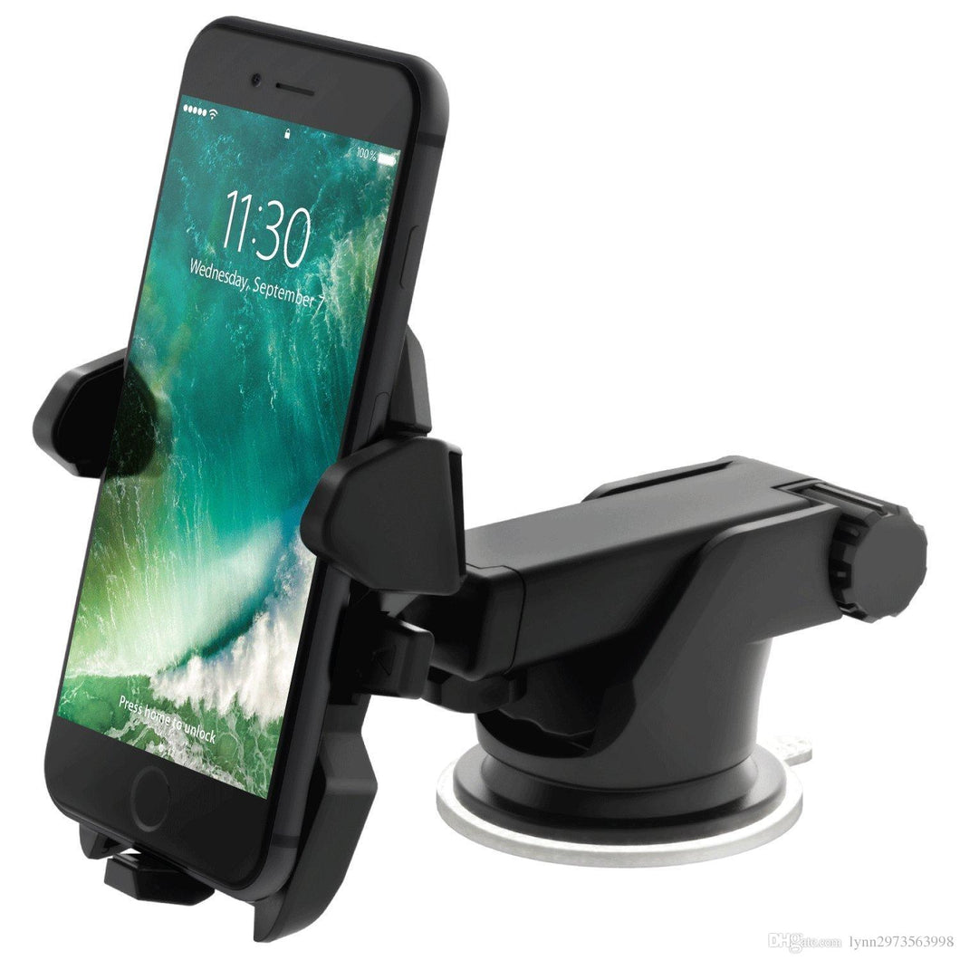 2018 Automatic Windshield Mount Car Phone Holder Adjustable 360 degrees rotation.Adjustable holding width from 5-8.5cm.Keep your cell phone in holder steadily.