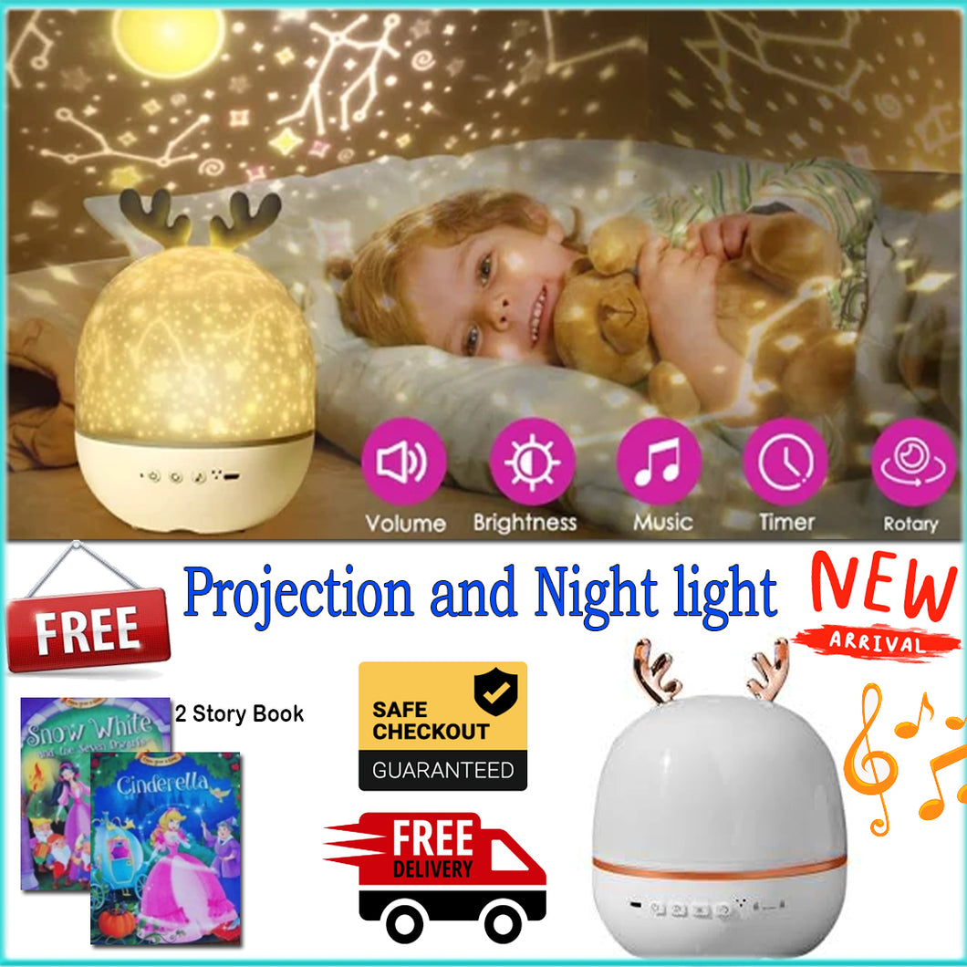 Sky Romantic Projection Night & light  2 in 1 + Free 2 Story Book Promo