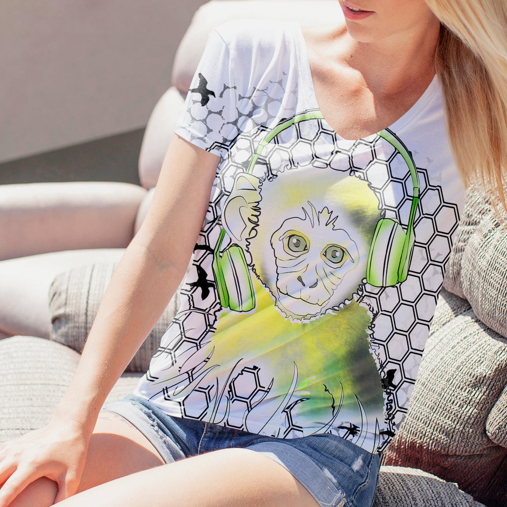 Womens Lightweight Monkey Tee
