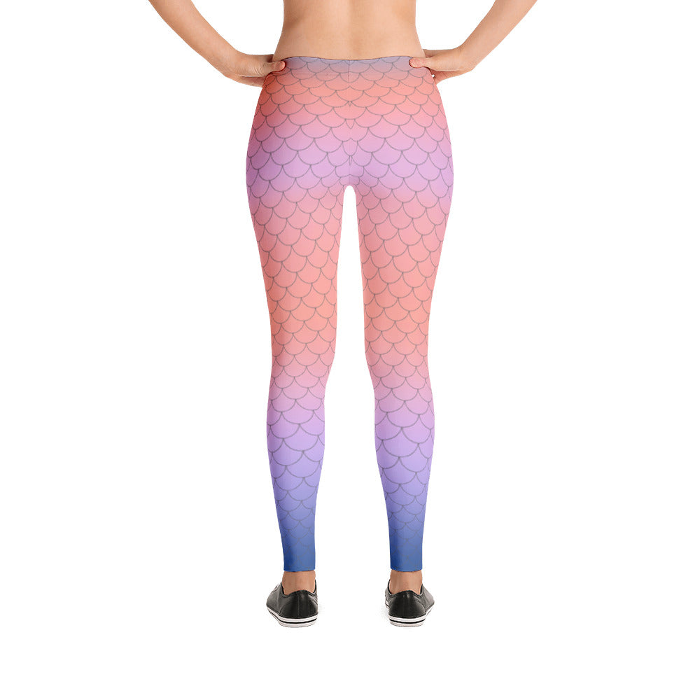 MERMAID LEGGINGS CORAL