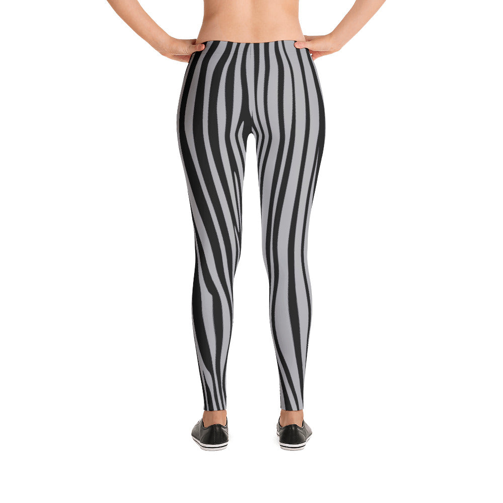 ZEBRA LEGGINGS ASH GRAY