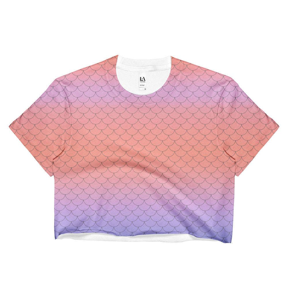 Coral Mermaid Crop Top