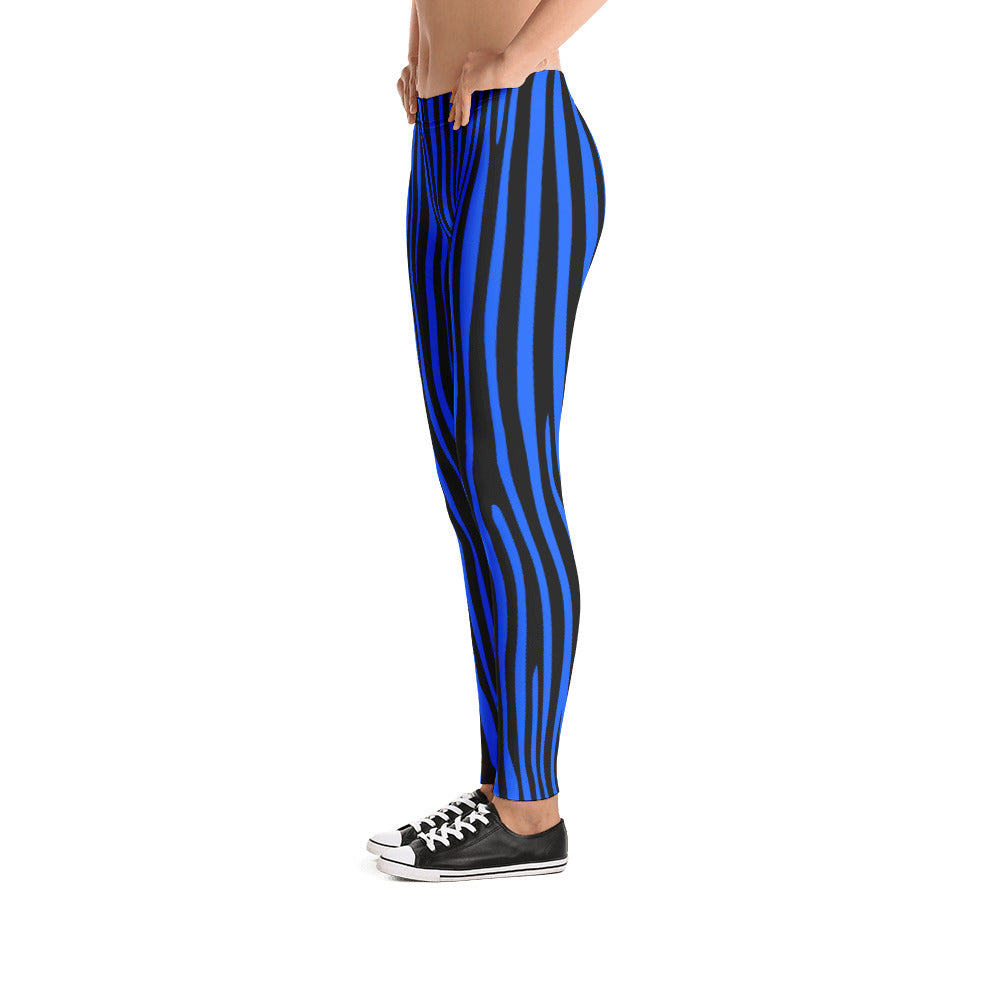 Electric Blue Zebra Leggings