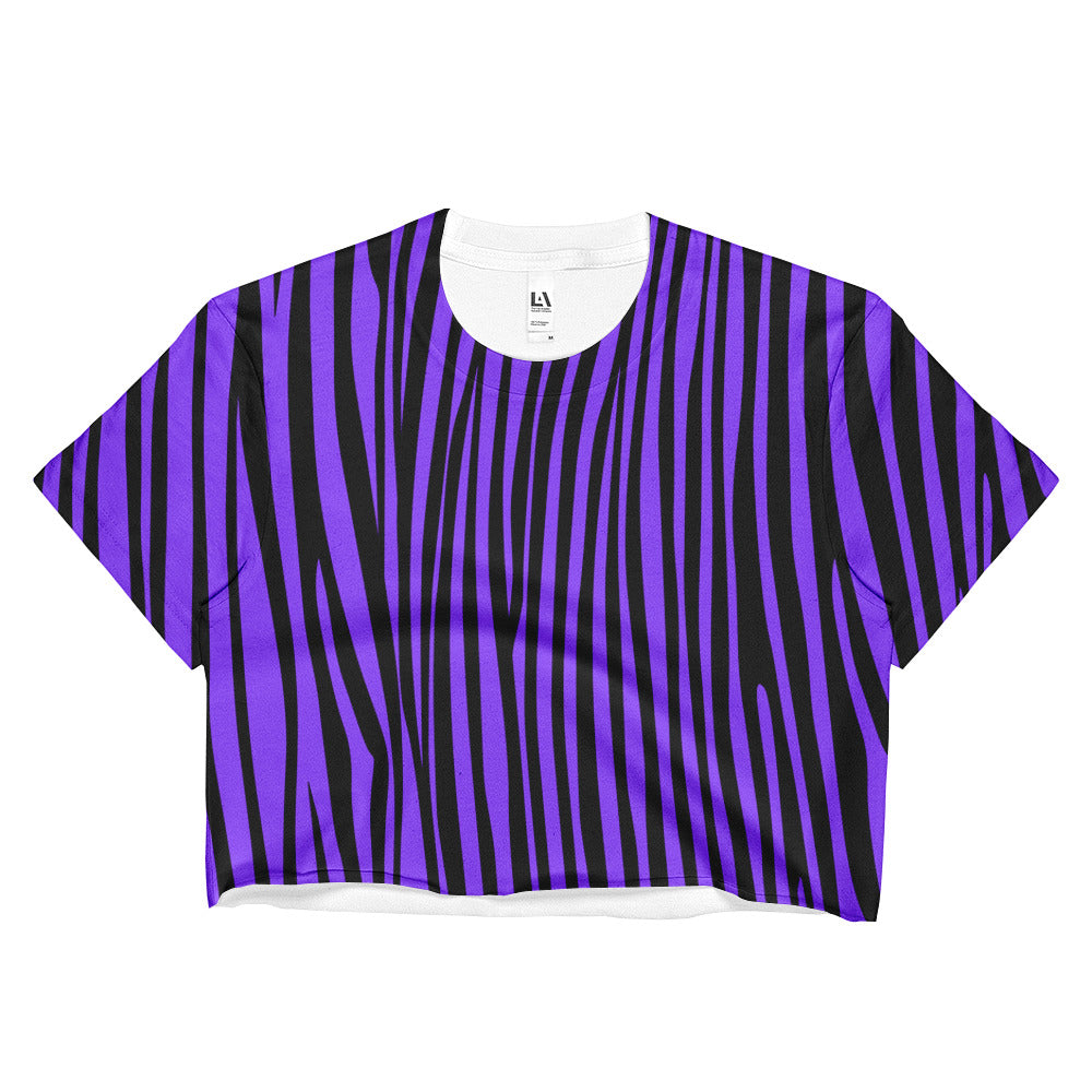 Ultraviolet Zebra Crop Top