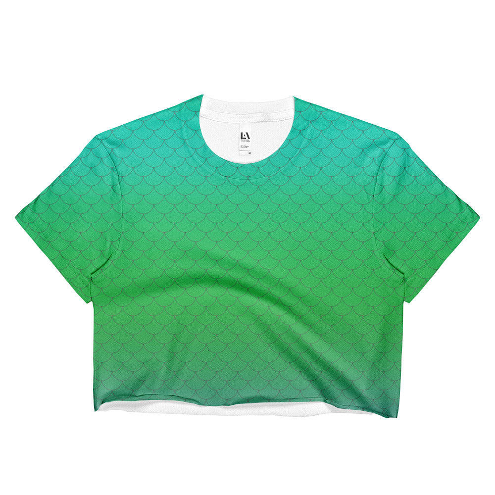 Mint Mermaid Crop Top