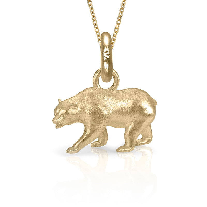 Monarch the Bear Charm, Yellow Gold