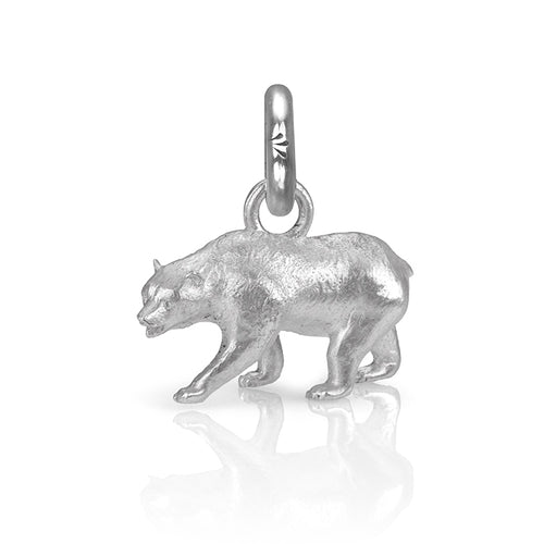 Monarch the Bear Charm, Silver