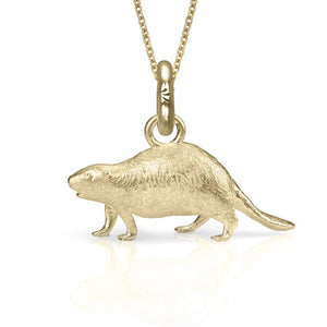 Al the Beaver Charm, Yellow Gold