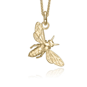 Tera the Honey Bee Charm, Yellow Gold