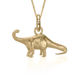 Bronte the Brontosaurus Charm, Yellow Gold