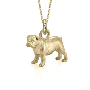 Eddie the Bulldog Charm, Yellow Gold